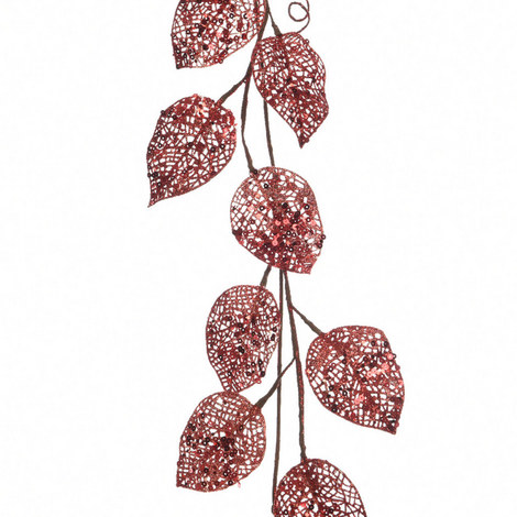 Glitter Leaf Garland, ${color}