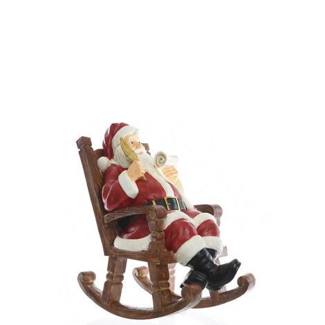 Santa in his Rocking Chair Standing Decoration, ${color}