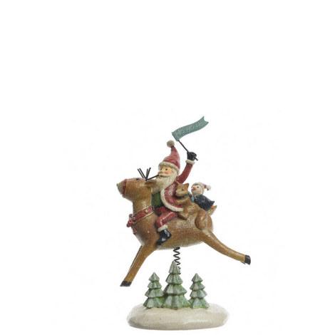 Santa on Reindeer Standing Decoration, ${color}