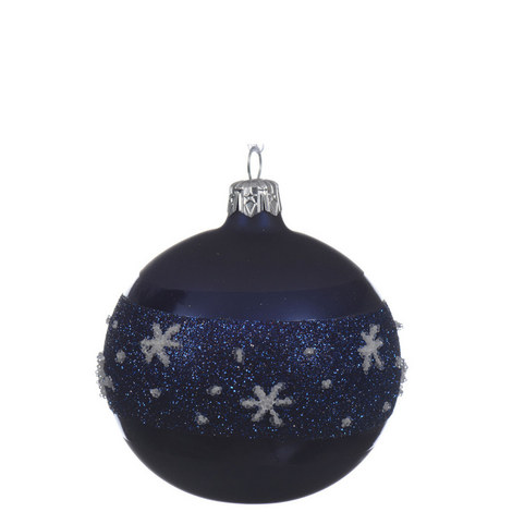 Glitter Snowflake Bauble, ${color}