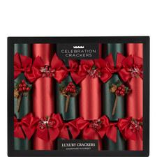 Luxury Christmas Crackers Set Of 6