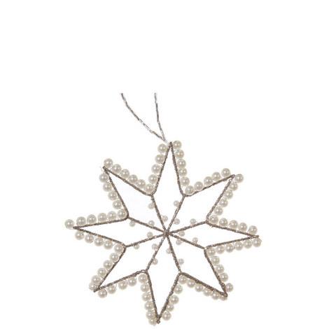 Pearl Wire Star Tree Ornament 12cm, ${color}