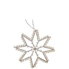 Pearl Wire Star Tree Ornament 12cm