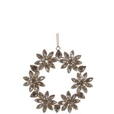 Jewel Floral Wreath 15cm