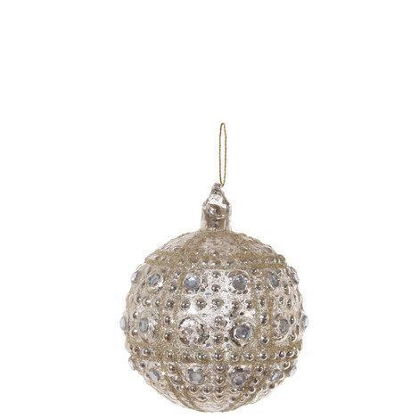 Jewel Encrusted Bauble 8cm, ${color}