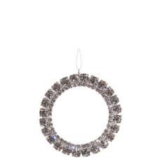 Double Diamanté Ring 7cm