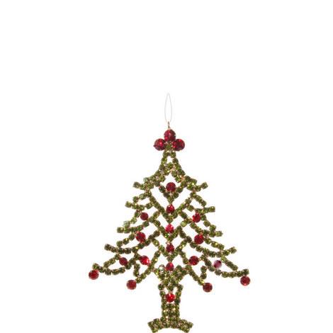 Diamanté Tree Hanging Ornament 12cm, ${color}