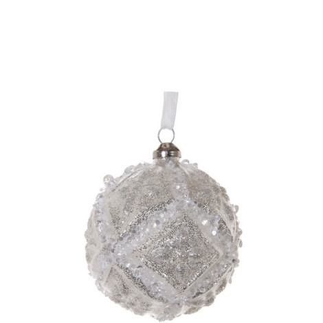 Floral Ball Hanging Ornament 8cm, ${color}