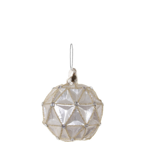 Triangle Pearl Bauble 8cm, ${color}