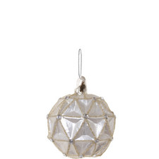 Triangle Pearl Bauble 8cm