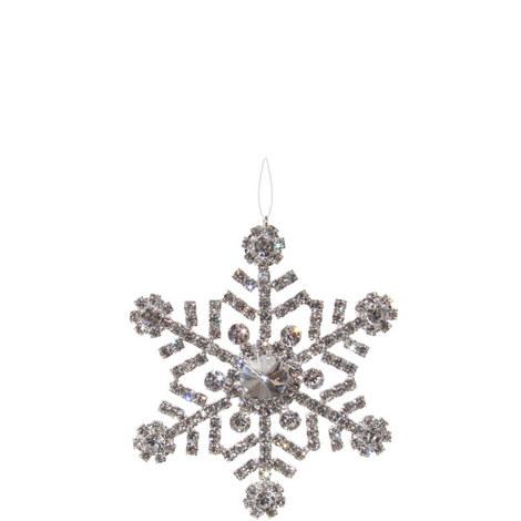 Diamanté Snowflake Hanging Tree Ornament 9cm, ${color}