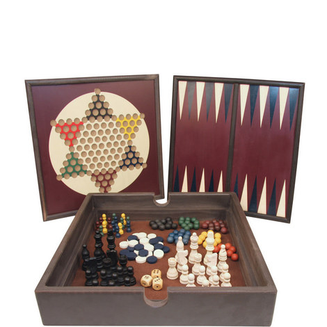 5-in-1 Wooden Game Set, ${color}