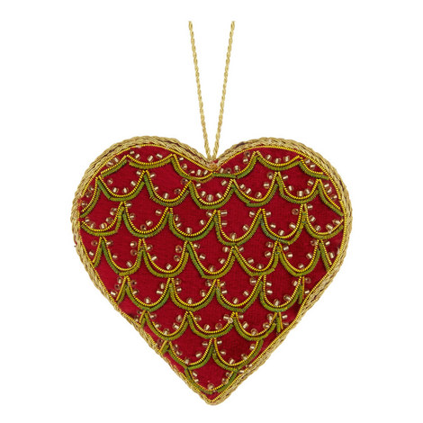 Embellished Heart Hanging Decoration, ${color}