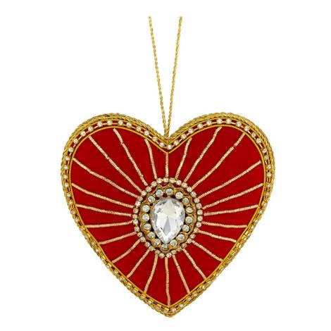 Jewel Love Heart Decoration, ${color}