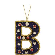 Bejewelled 'B' Hanging Decoration