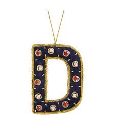 Bejewelled 'D' Hanging Decoration