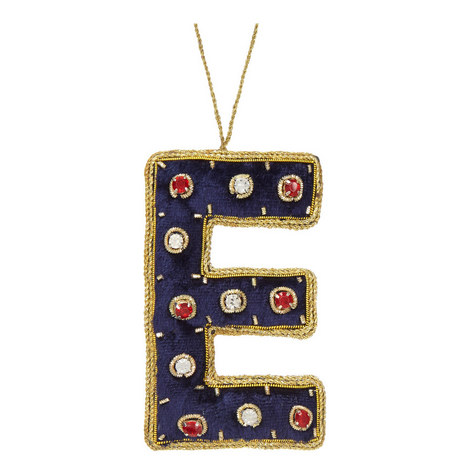 Bejewelled 'E' Hanging Decoration, ${color}