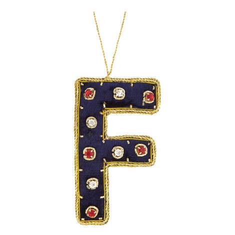 Bejewelled 'F' Hanging Decoration, ${color}