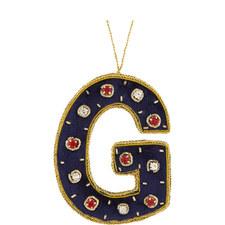 Bejewelled 'G' Hanging Decoration