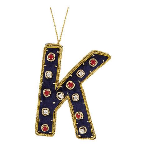 Bejewelled 'K' Hanging Decoration, ${color}