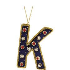 Bejewelled 'K' Hanging Decoration