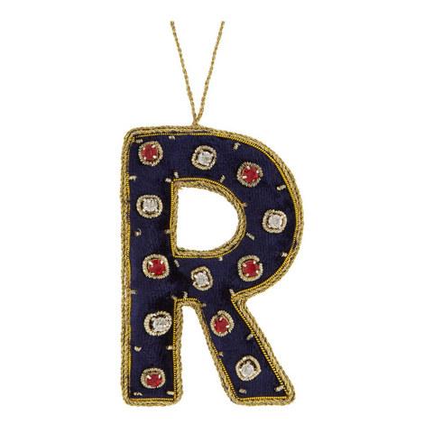 Bejewelled 'R' Hanging Decoration, ${color}