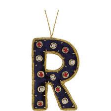 Bejewelled 'R' Hanging Decoration