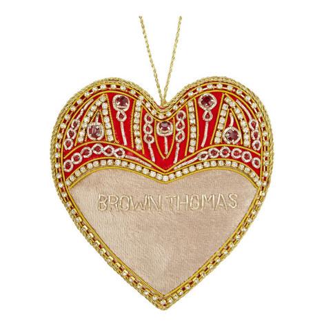 Velvet Jewel Heart Tree Decoration, ${color}