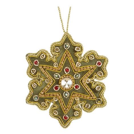 Velvet Jewel Snowflake Tree Decoration, ${color}