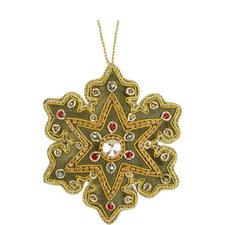 Velvet Jewel Snowflake Tree Decoration