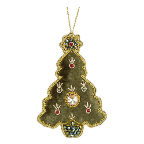 Velvet Jewel Tree Decoration, ${color}