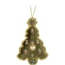 Velvet Jewel Tree Decoration