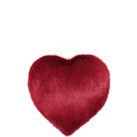 Boudoir Heart Faux Fur Cushion, ${color}