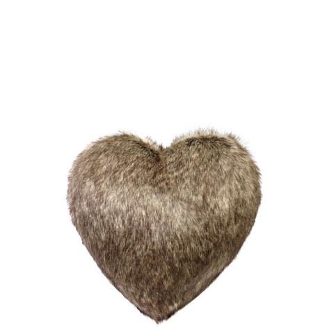 Boudoir Heart Faux Fur Cushion, ${color}