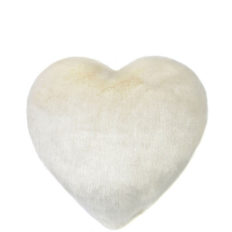 Heart Faux Fur Cushion Large, ${color}