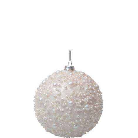 White Pearl Bauble 10cm, ${color}