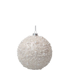 White Pearl Bauble 10cm
