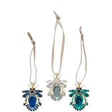 Set of 3 Vintage Hanging Jewel Bugs