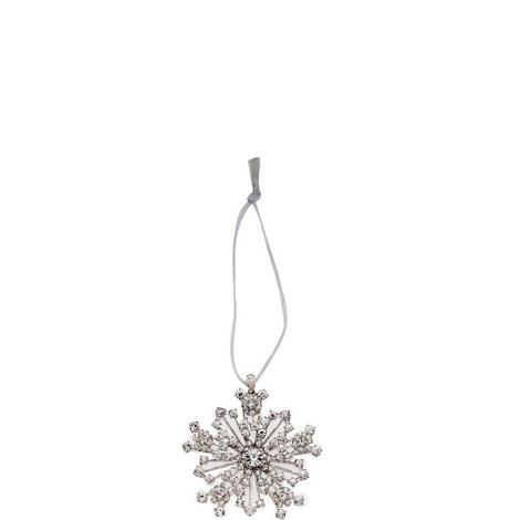 Crystal Sparkle Snowflake Ornament, ${color}