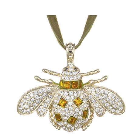 Crystal Bee Christmas Hanging Ornament, ${color}