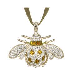 Crystal Bee Christmas Hanging Ornament