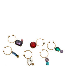 Set of 6 Jewelled Wine Charms