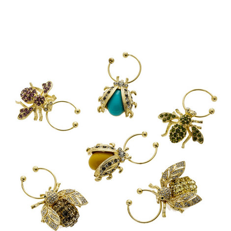 Set of 6 Bedazzled Bee Charms, ${color}