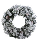 Fairfield Flocked Wreath, ${color}
