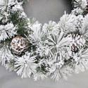 Fairfield Flocked Wreath, ${color}