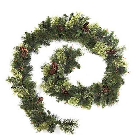 Christmas Pine Garland.Puleo Pine Garland