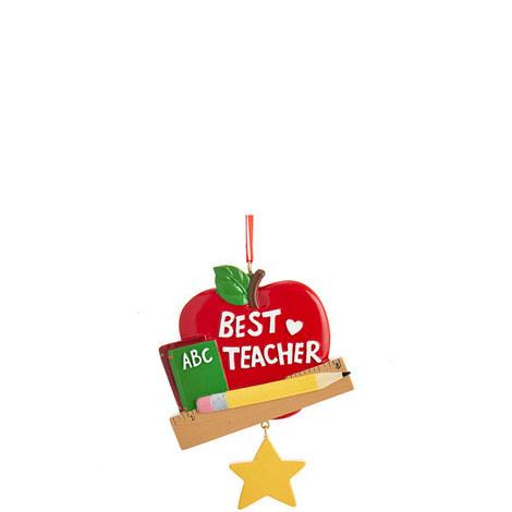 Best Teacher Ornament, ${color}