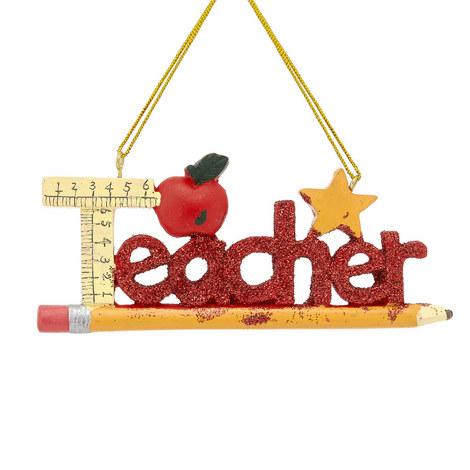 Teacher Ornament, ${color}