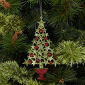 Starry Christmas Tree Ornament, ${color}