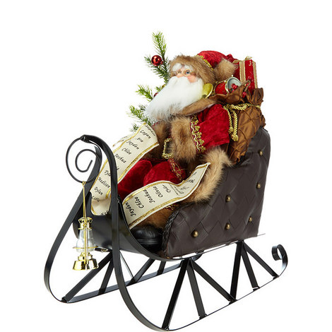 Santa's Sleigh Ornament, ${color}